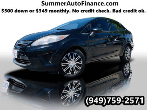 2012 Ford Fiesta for sale at SUMMER AUTO FINANCE in Costa Mesa CA