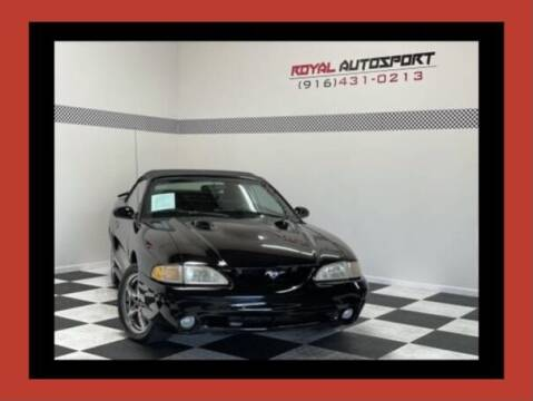 1998 Ford Mustang SVT Cobra for sale at Royal AutoSport in Sacramento CA