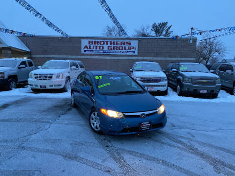 2007 Honda Civic for sale at Brothers Auto Group in Youngstown OH