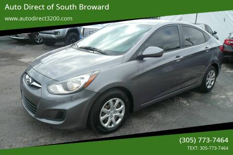 2014 Hyundai Accent for sale at Auto Direct of South Broward in Miramar FL