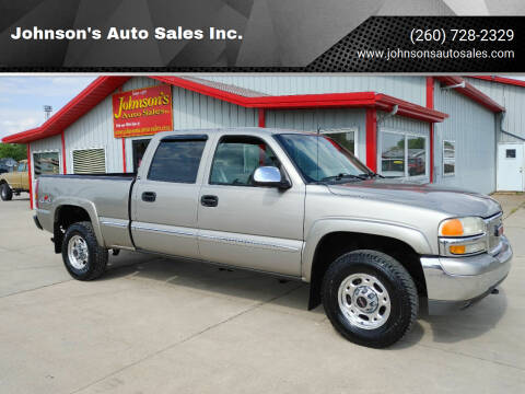 2002 GMC Sierra 1500HD for sale at Johnson's Auto Sales Inc. in Decatur IN