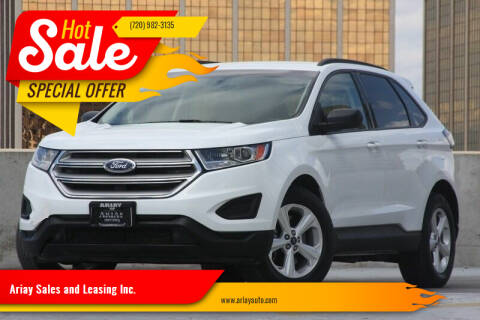 2016 Ford Edge for sale at Ariay Sales and Leasing Inc. - Pre Owned Storage Lot in Glendale CO
