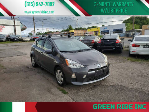2013 Toyota Prius c for sale at Green Ride Inc in Nashville TN