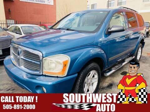 2006 Dodge Durango for sale at SOUTHWEST AUTO in Albuquerque NM