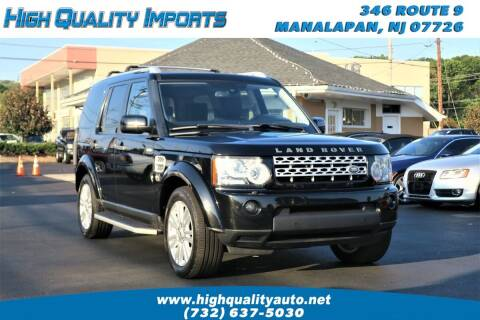 2012 Land Rover LR4 for sale at High Quality Imports in Manalapan NJ