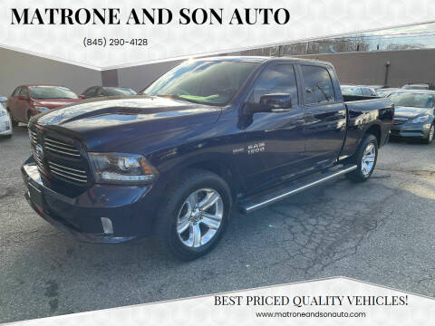 2016 RAM Ram Pickup 1500 for sale at Matrone and Son Auto in Tallman NY