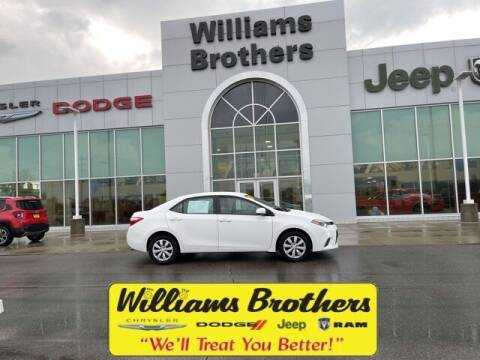 2015 Toyota Corolla for sale at Williams Brothers - Pre-Owned Monroe in Monroe MI