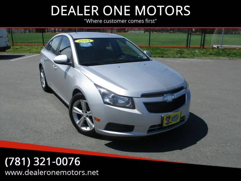 2014 Chevrolet Cruze for sale at DEALER ONE MOTORS in Malden MA