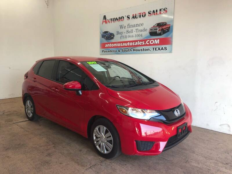 2017 Honda Fit for sale at Antonio's Auto Sales in South Houston TX