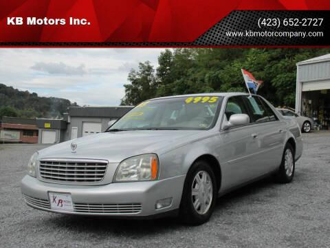 2003 Cadillac DeVille for sale at KB Motors Inc. in Bristol VA