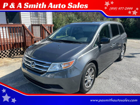 2012 Honda Odyssey for sale at P & A Smith Auto Sales in Garner NC