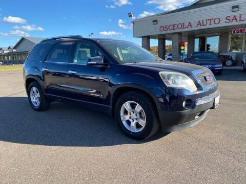 2007 GMC Acadia for sale at Osceola Auto Sales and Service in Osceola WI