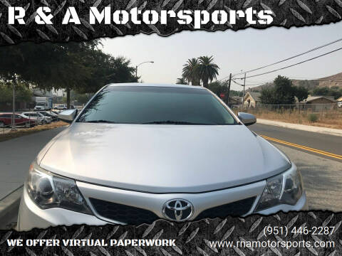 2014 Toyota Camry for sale at R & A Motorsports in Corona CA