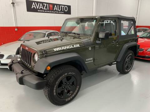 2015 Jeep Wrangler for sale at AVAZI AUTO GROUP LLC in Gaithersburg MD