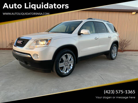 2010 GMC Acadia for sale at Auto Liquidators in Bluff City TN