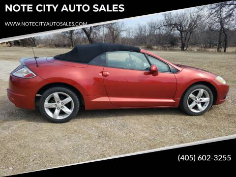 2009 Mitsubishi Eclipse Spyder for sale at NOTE CITY AUTO SALES in Oklahoma City OK