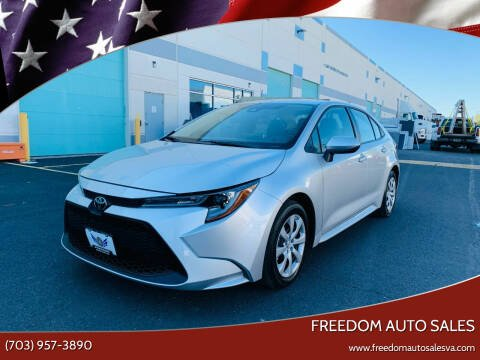 2020 Toyota Corolla for sale at Freedom Auto Sales in Chantilly VA