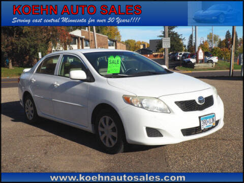 2009 Toyota Corolla for sale at Koehn Auto Sales in Lindstrom MN
