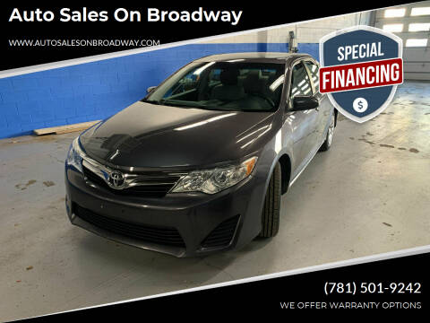 2013 Toyota Camry for sale at Auto Sales on Broadway in Norwood MA