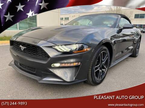 2020 Ford Mustang for sale at Pleasant Auto Group in Chantilly VA