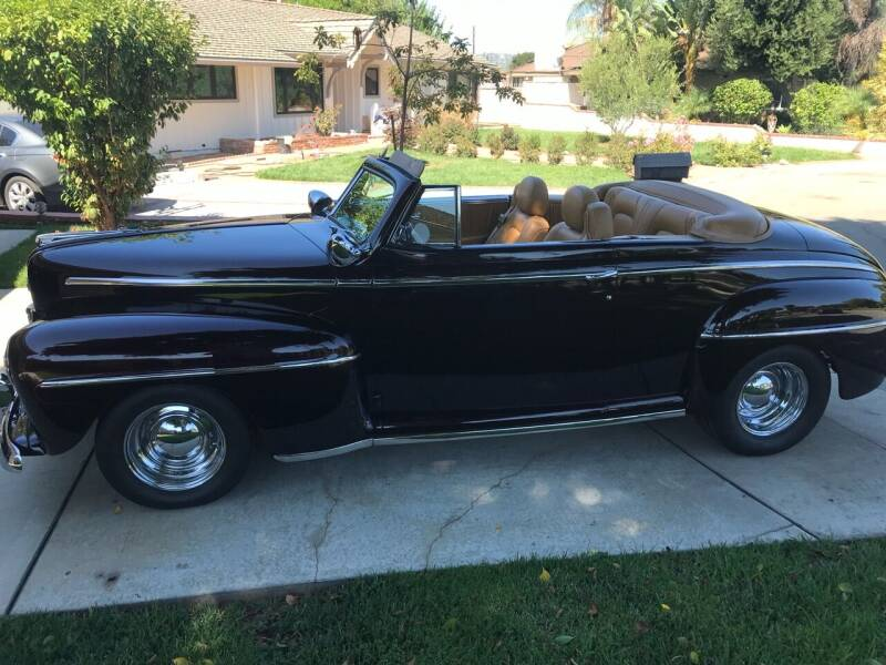 1948 Ford Deluxe Convertible for sale at HIGH-LINE MOTOR SPORTS in Brea CA