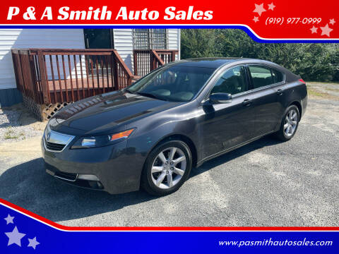 2014 Acura TL for sale at P & A Smith Auto Sales in Garner NC