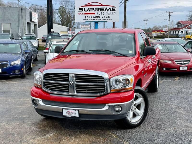 2006 Dodge Ram Pickup 1500 for sale at Supreme Auto Sales in Chesapeake VA