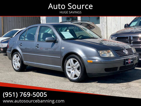 2004 Volkswagen Jetta for sale at Auto Source in Banning CA