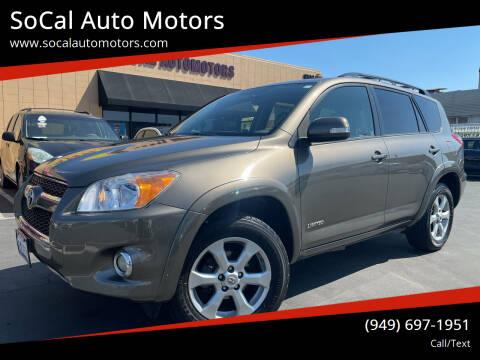 2011 Toyota RAV4 for sale at SoCal Auto Motors in Costa Mesa CA