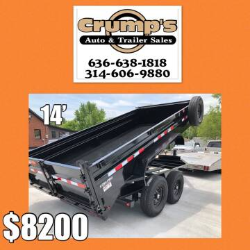 2021 Pj Trailers Bumper Pull Dump Trailer for sale at CRUMP'S AUTO & TRAILER SALES in Crystal City MO
