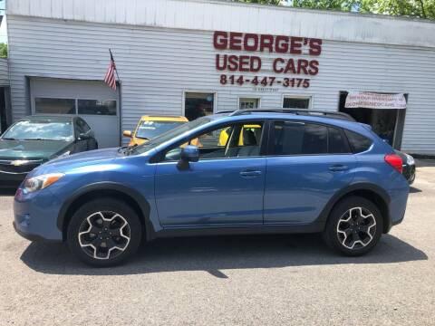 2014 Subaru XV Crosstrek for sale at George's Used Cars Inc in Orbisonia PA