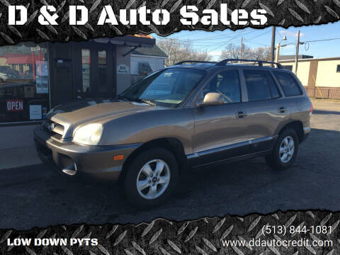2005 Hyundai Santa Fe for sale at D & D Auto Sales in Hamilton OH