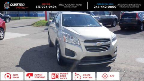 2016 Chevrolet Trax for sale at Quattro Motors 2 - 1 in Redford MI