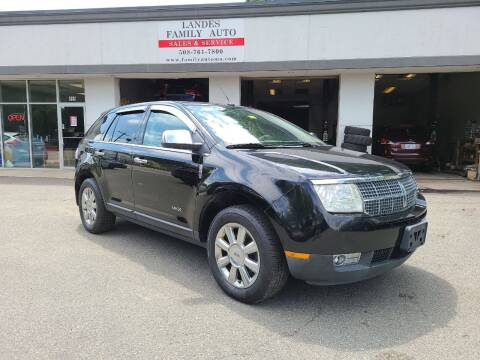 2008 Lincoln MKX for sale at Landes Family Auto Sales in Attleboro MA