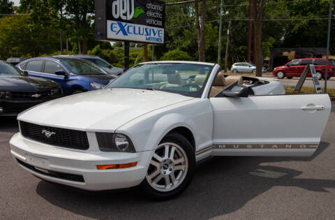 2007 Ford Mustang for sale at EXCLUSIVE MOTORS in Virginia Beach VA