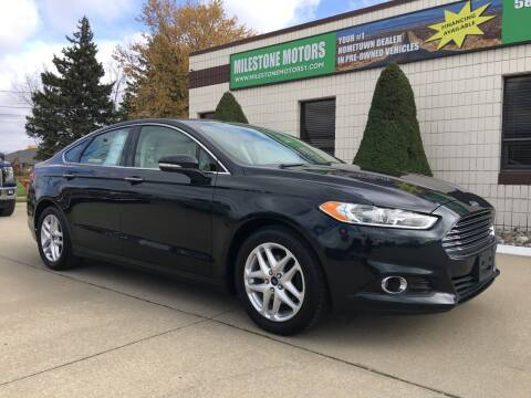 2014 Ford Fusion for sale at MILESTONE MOTORS in Chesterfield MI