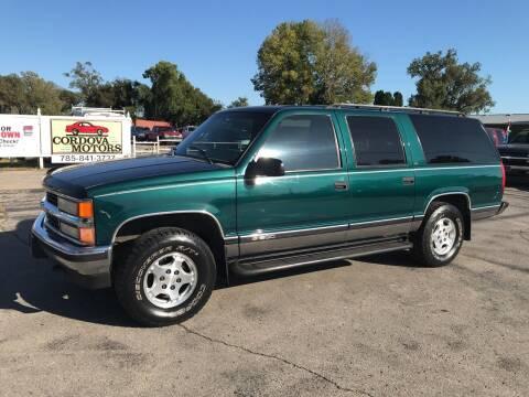 1996 Chevrolet Suburban for sale at Cordova Motors in Lawrence KS