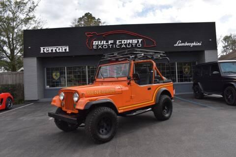 1986 Jeep CJ-7 for sale at Gulf Coast Exotic Auto in Biloxi MS