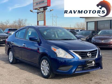 2019 Nissan Versa for sale at RAVMOTORS in Burnsville MN