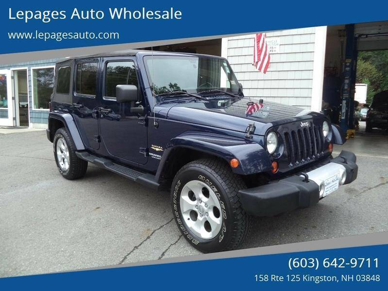 2013 Jeep Wrangler Unlimited for sale at Lepages Auto Wholesale in Kingston NH