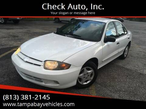 2004 Chevrolet Cavalier for sale at CHECK  AUTO INC. in Tampa FL
