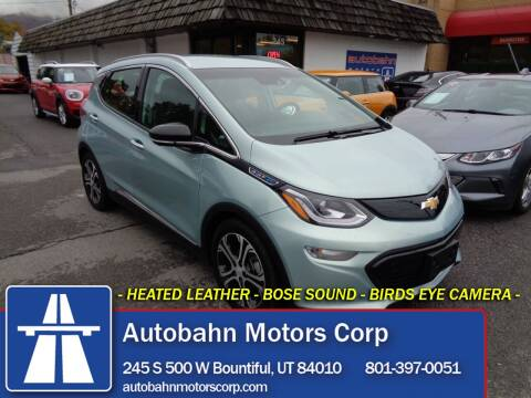 2019 Chevrolet Bolt EV for sale at Autobahn Motors Corp in Bountiful UT