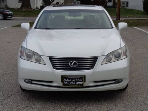 2009 Lexus ES 350 for sale at MAIN STREET MOTORS in Norristown PA
