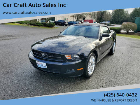 2012 Ford Mustang for sale at Car Craft Auto Sales Inc in Lynnwood WA