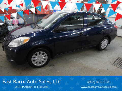 2013 Nissan Versa for sale at East Barre Auto Sales, LLC in East Barre VT