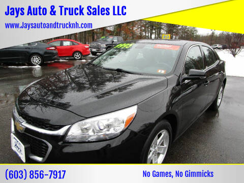 2016 Chevrolet Malibu Limited for sale at Jays Auto & Truck Sales LLC in Loudon NH