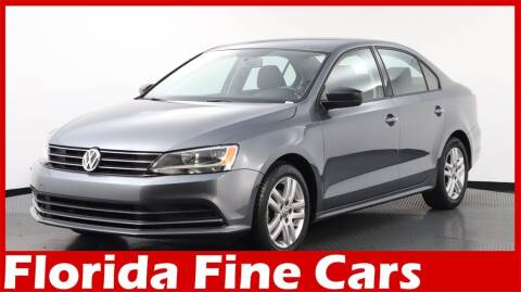 2015 Volkswagen Jetta for sale at Florida Fine Cars - West Palm Beach in West Palm Beach FL