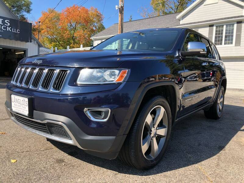2014 Jeep Grand Cherokee for sale at Langlois Auto and Truck LLC in Kingston NH