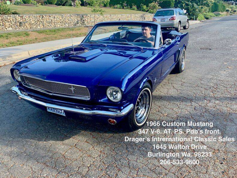 1966 Ford Mustang for sale at Drager's International Classic Sales in Burlington WA