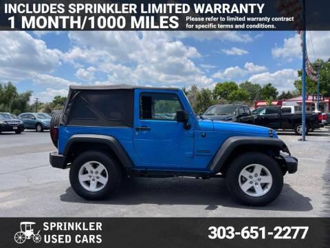 2016 Jeep Wrangler for sale at Sprinkler Used Cars in Longmont CO
